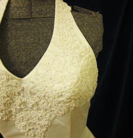 Wedding - HALTER wedding dress white SATIN