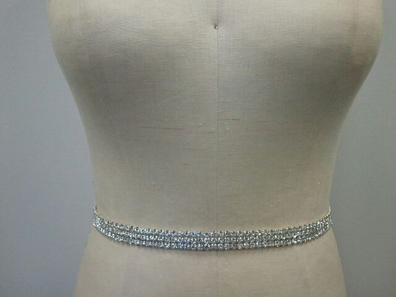 Свадьба - SALE - Bridal Belt, Wedding belt, Bridesmaid - Crystal Rhinestone Belt Style B102 - Made to Order