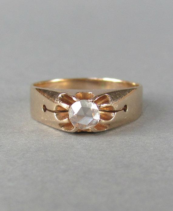 Antique Belcher Rose Gold Ring