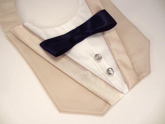 Свадьба - Dog Khaki Tuxedo Deluxe Wedding Bandana Vest Photo Op