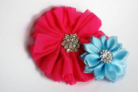 Mariage - Dog collar flowers. Dog collar, dog collar bling, collar Flowers, Wedding Dog Flowers, Bows for Dogs, Dog Bows, Pet flower, pink dog flower
