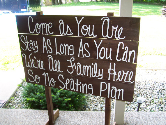 Wedding - Wedding Signs, FREE STANDING , come as you are, rustic wooden sign,wedding decorations seating plan sign country wedding wedding decorations