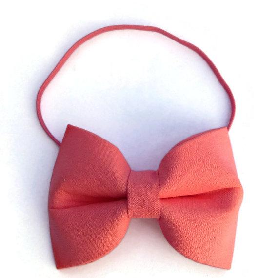 Свадьба - Dog Bow, Dog Bow-tie, wedding dog bow, Coral bow tie, Dog collar, flower collar, wedding accessory, photo shoot