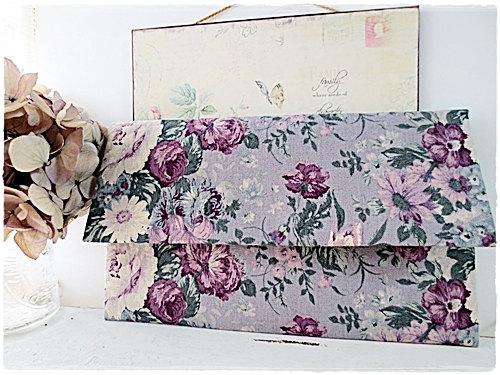 زفاف - Large envelope clutch bridesmaids clutch purple rose clutch wedding clutch bridal clutch evening purse