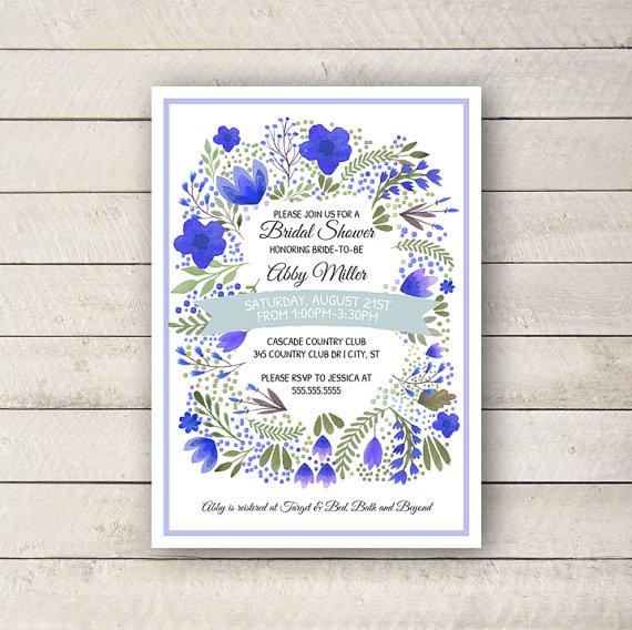 Mariage - Watercolor Bridal Shower Invitation, Floral shower invite, Elegant Bridal Shower Invite, Bridal Shower Invite, DIGITAL Printable