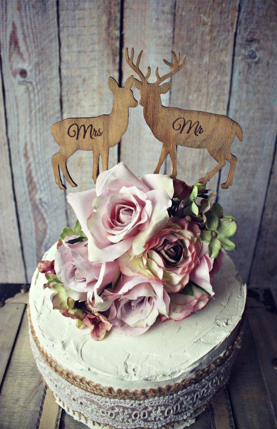 Deer-bride-groom-wedding-cake Topper-lover-hunting-hunter-camouflage ...