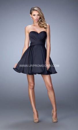 Mariage - 2015 Navy Short La Femme 21950 Short Sweetheart Homecoming Dress