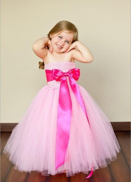 Wedding - Designer Baby Pink Birthday Tutu Dress