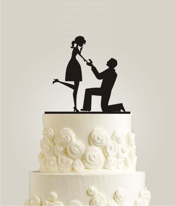 Will You Marry Me Cake Topper Valentine Day Proposal Cake Topper