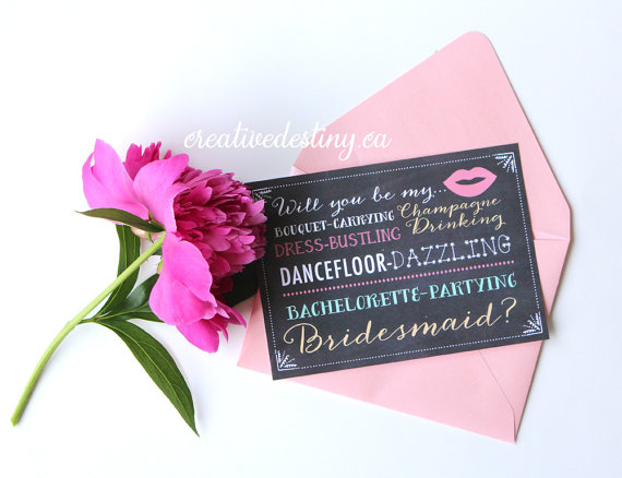 Свадьба - Will You Be My Bridesmaid  Proposal Card