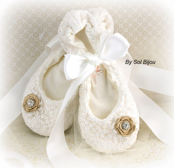 Ballet Flats, Ballerina Slippers, Shoes, Wedding, Bridal, Lace Up ...