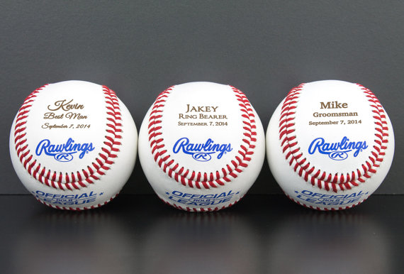 Mariage - Ring Bearer Baseball, Personalized Gift, Wedding Party Favor, Custom Groomsmen and Best Man Gift,