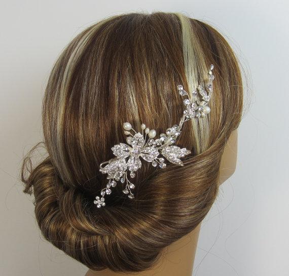 Mariage - Crystal Bridal Comb, LILLY Hair comb, Bridal hair comb, Wedding hair accessories, Bridal Headpieces, Rhinestone hair comb bridal