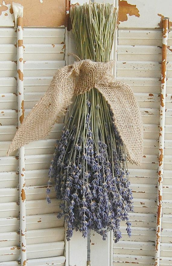 Mariage - Dried Lavender Bouquet /  French Lavender Bunch / Rustic Wedding Decor / Barn Wedding Decor