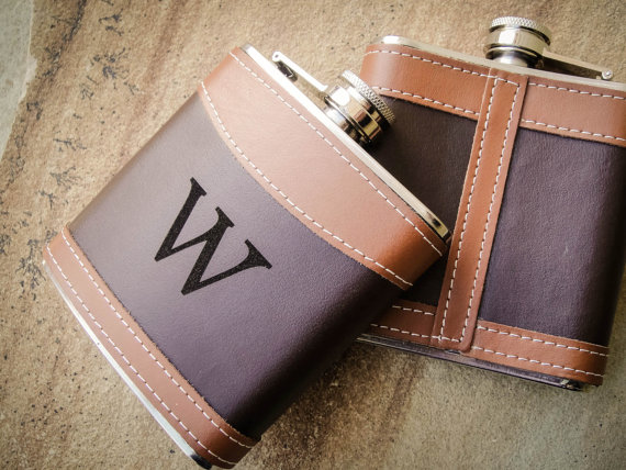 monogrammed flask leather flasks custom flask engraved flask hip