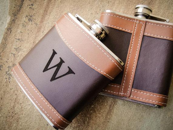 Monogrammed Flask, Leather Flasks, Custom Flask, Engraved Flask ...
