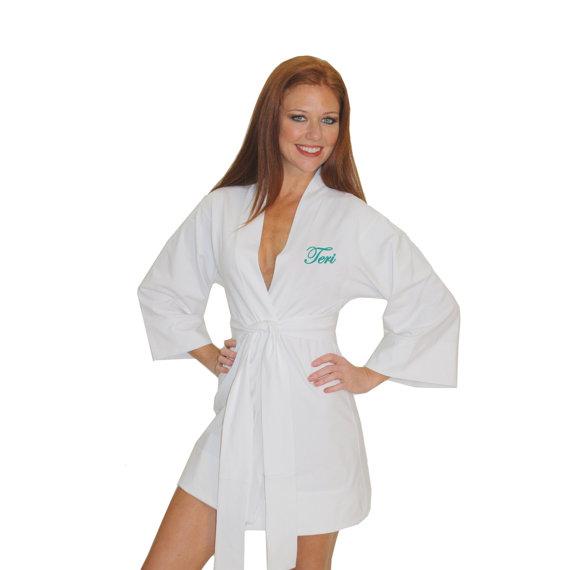 Mariage - Personalized Bride Robe, Bridesmaid monogrammed robe, Bridal Robe, Personalized bridesmaid robe, Customized Bride Robe, Bridal lingerie