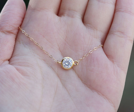 Wedding - Tiny dot,Small Karma,Diamond cut tiny dot Necklace,Bridesmaid gifts,Wedding Bridal Jewelry