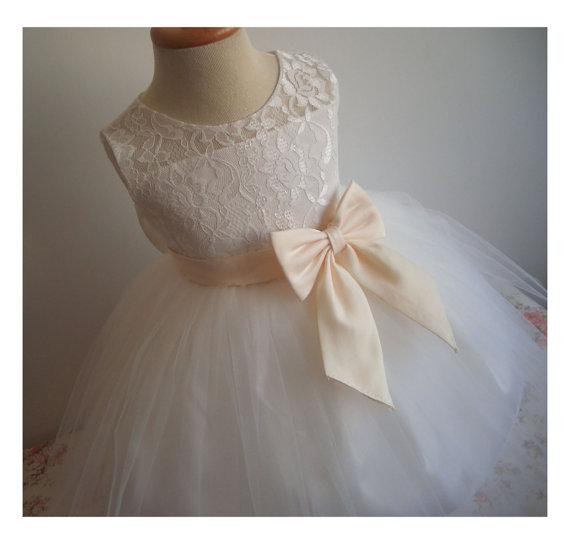 ea6c5a2660d2 Flower Girl Dress Little Baby Girl Baptism Dress Tulle TuTu Infant ...