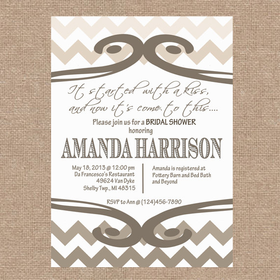 Hochzeit - Bridal / Wedding / Baby Shower Invitation