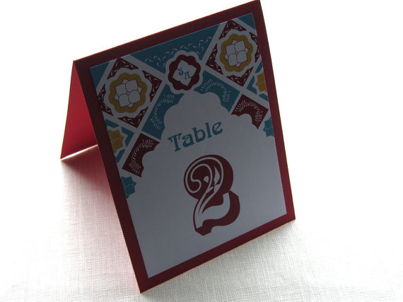 Hochzeit - RESERVED for Josette - Mexican Table Number, Signs, Place Tags and Thank You Cards