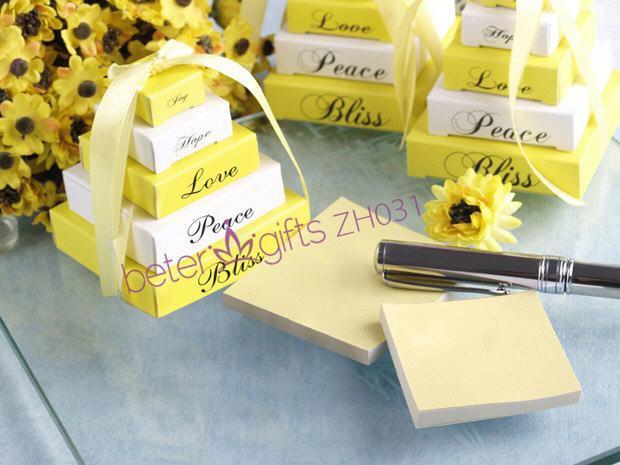 Wedding - 小清新 柠檬黄色便条紙ZH031婚庆用品 新娘答谢回礼 迷你便签纸