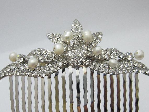 Mariage - wedding hair comb bridal hair jewelry wedding accessory bridal hair accessory wedding hair jewelry bridal hair comb wedding comb bridal