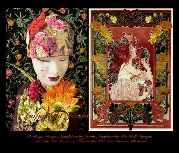 Mariage - Art Nouveau Headband,Edwardian Headband,1910s Headpiece,1920s Headband,1920s Dress Headband,Art Deco Headpiece,Flapper Headband,Burlesque