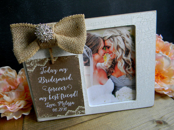 Свадьба - Bridesmaid Picture Frame Gift Personalized Picture Frame Bridal Party Gift Maid of Honor Picture Frame Matron of Honor Picture Frame Photo