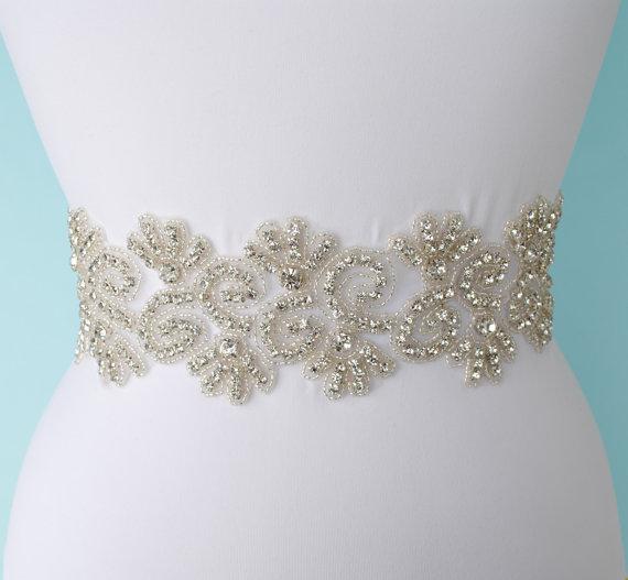 Hochzeit - Wedding Sash Belt Bridal Sash Bridal Dress Belt Bridal Belt Wedding Belt Crystal Wedding Belt Bridal Sash Belt Dress Sash Belt Dress Belt