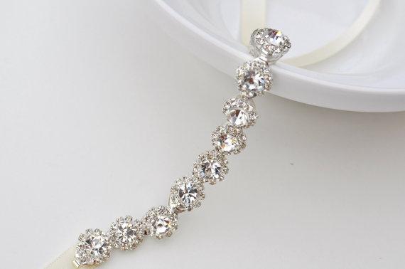 Свадьба - Crystal bracelet, Bridal bracelet, Bridesmaid gift, bridesmaid bracelet, Wedding bracelet, bracelet, bridal accessory, wedding, accessory