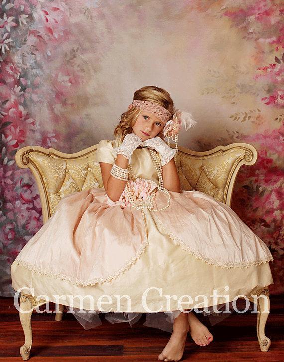 Свадьба - Flower Girl Dress - Flower Girl Dress- Flower Girl Dress - Victorian Flower Girl Dress (Little Couture Dress)