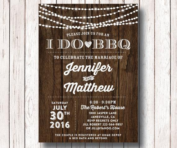 I Do Bbq Wedding Reception Invitation S Shower Bridal Barbeque Printable