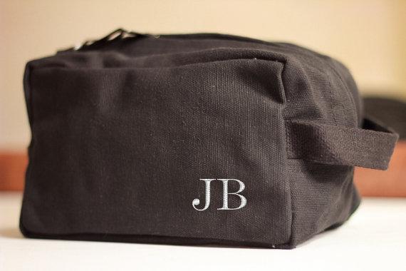 Set Of 6 Groomsmen Gift Shave Bag Kit Personalized Custom Dopp Vintage Military Toiletry Travel Wedding Party Groomsman Guy