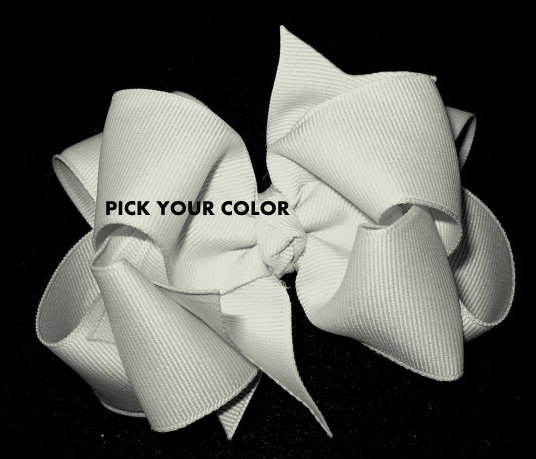 Wedding - PICK your Color Double Layered Hair Bow Spikey Lush Boutique Princess Hairbow Pageant Big YOU Choose