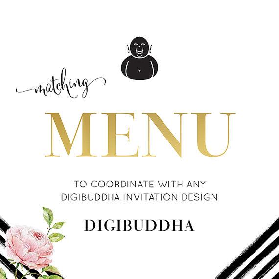 menu 5x7 custom coordinating menu design made to match any