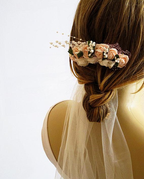 Wedding - Wedding Flower Hair Comb, Bridesmaid Gifts, weddings hair accessories, hair clip, bridal Flower hair Comb, Hair Flower, Hair Accessory, gift