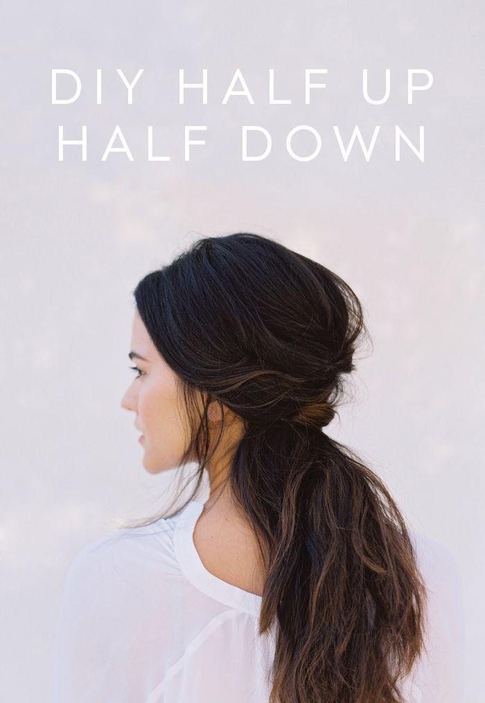 Wedding - DIY Half Up Half Down Wedding Hair