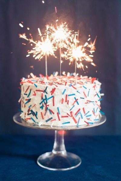 Cake - DIY 4th Of July Confetti Cake #2335227 - Weddbook