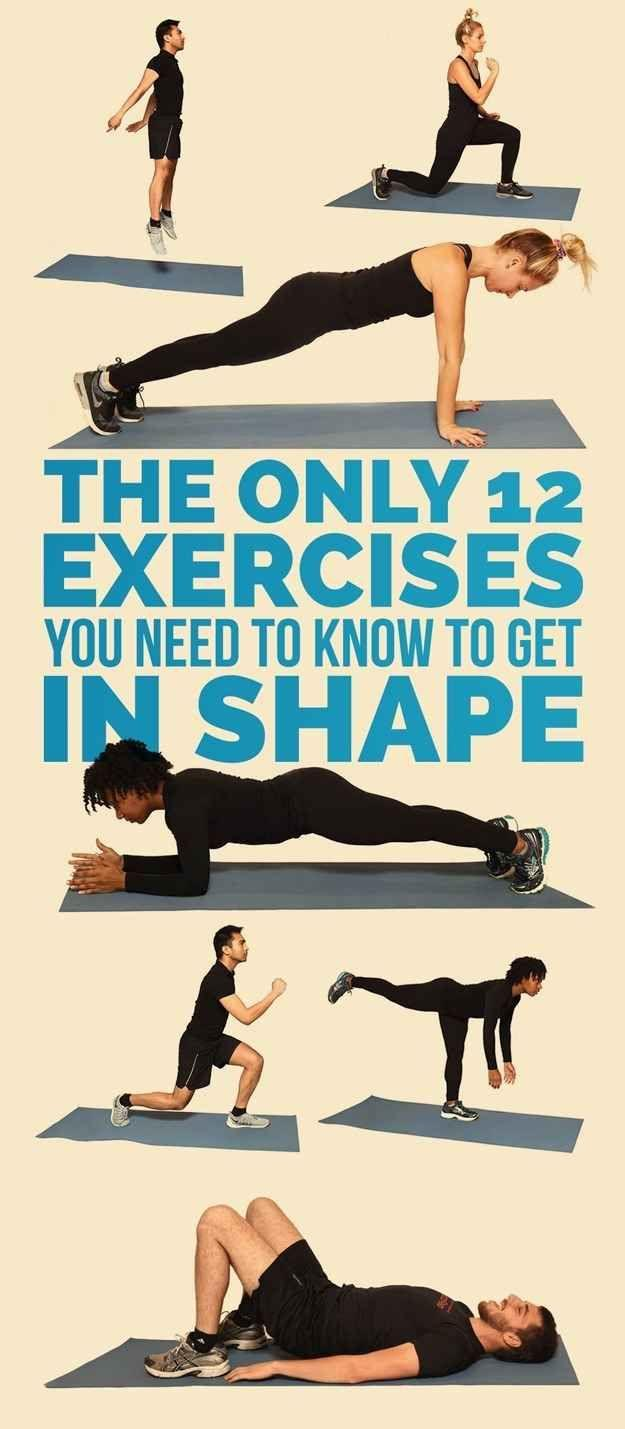 Свадьба - The Only 12 Exercises You Need To Get In Shape