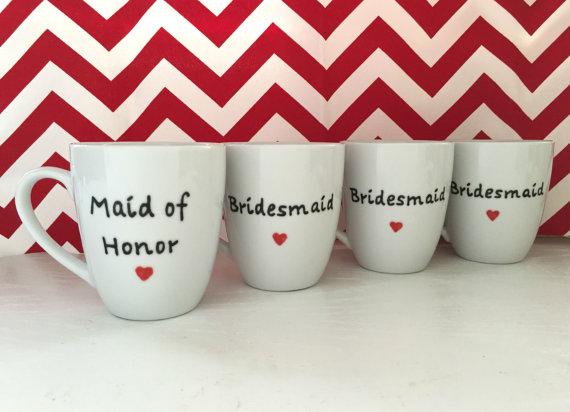 bridesmaid gift mug u2013 bridesmaid mug handpainted coffee cup u2013 unique coffee mug u2013 bridesmaid gift bridesmaid