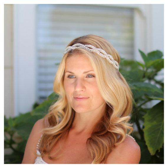 Свадьба - Amora bridal headband,  rhinestone headband, wedding headband, bridal hair accessories, bohemian bridal headband