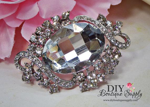 Свадьба - Crystal Wedding Rhinestone Brooch Pin - Wedding Bridal Accessories - Crystal Brooch Bouquet - Bridal Brooch Sash Pin 55mm 849198