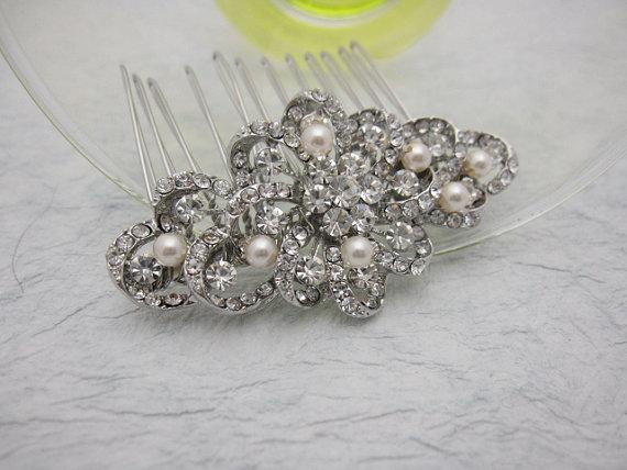 Свадьба - vintage inspired bridal hair comb wedding hair jewelry bridal hair jewelry wedding accessory bridal hair jewelry wedding headpiece bridal