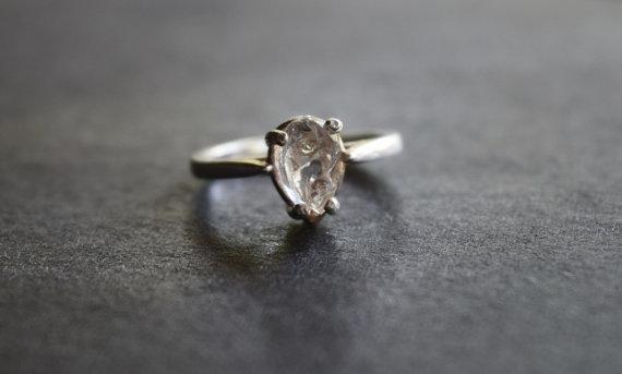 زفاف - Raw Diamond Engagement Ring Rough Diamond Jewelry Natural and Uncut Diamond Wedding Band Quartz Ring Sterling Silver Wedding Band Herkimer
