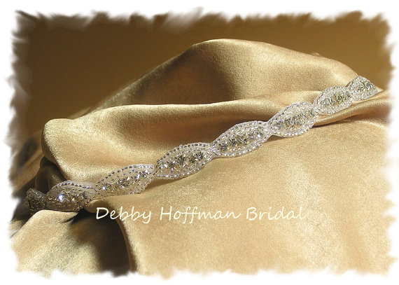 Wedding - Rhinestone Crystal Flower Girl Headband, Jeweled Flower Girl Headband, Beaded Crystal Flower Girl Headband, No. 4070HB, Wedding Accessories