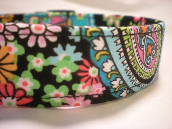 زفاف - Flower Dog Collar Pink Purple Blue Green Girl Boy Springtime in Paris