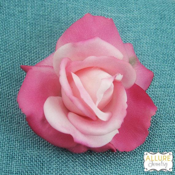 Real touch pink rose hair flower clip wedding hair accessories real touch pink rose hair flower clip wedding hair accessories wedding flower pin bridal hair accessories real touch hair flower mightylinksfo