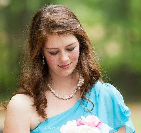 Свадьба - Pearl Bridal Jewelry - Pearl Bridal Set - Bridal Necklace - Wedding Jewelry - Wedding Necklace - Vintage Style - Chunky Pearl Strand