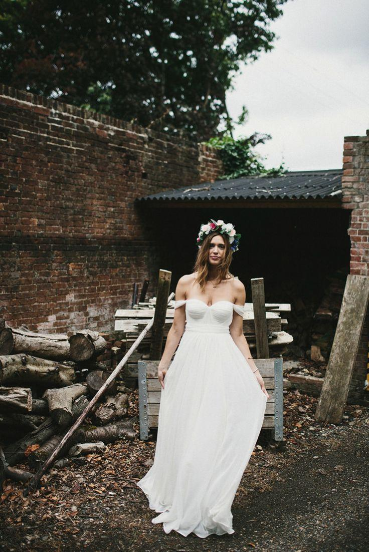 A Tatyana Merenyuk Gown And Flower Crown For A Boho Bride And Her